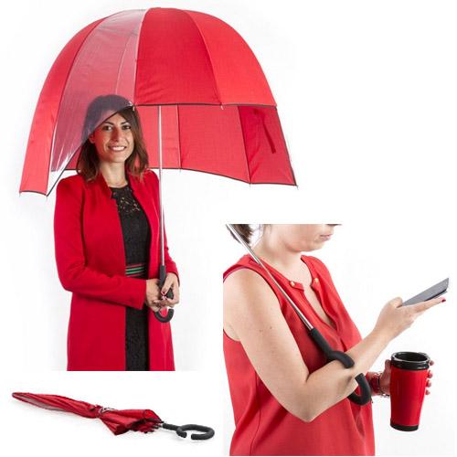 Original paraguas manos libres tamaño Ø 92 cm.