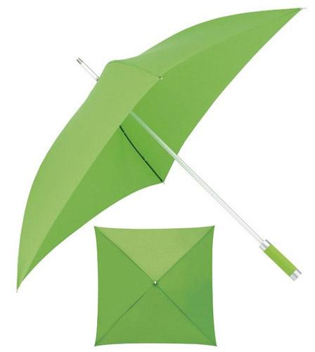 Paraguas cuadrado de caña de aluminio y varillas de fibra de vidrio. Tamaño Ø120/Ø80 cm.