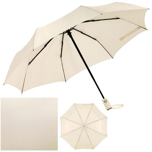 Paraguas plegable automático de calidad con revestimiento de poliéster con textura de panal de abeja. Medida: Ø 101 cm.