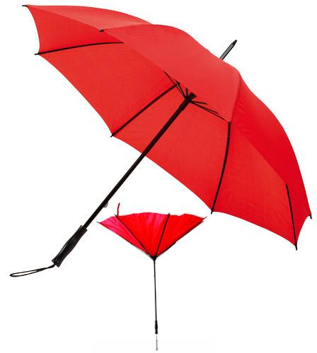 Paraguas automático con cordón en el mango y sistema antiviento. Medida: Ø 105 cm.