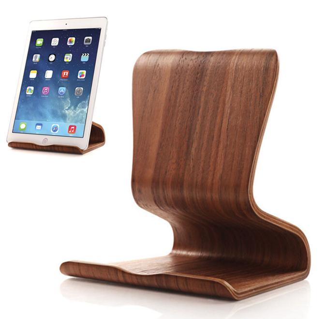 Elegante soporte de iPad o tablet de sobremesa.